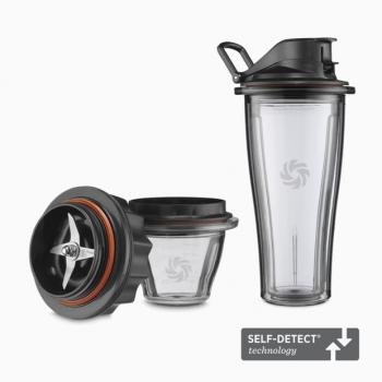 Vitamix ASCENT Starter Kit 1x 0,6 l +1x 0,25 l Mix&Go Tritan Behälter + 1x Klingenbasis